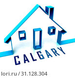 Купить «Calgary Real Estate Icon Shows Property For Sale Or Rent In Alberta. Investment Agents Or Brokers Symbol 3d Illustration», фото № 31128304, снято 4 октября 2012 г. (c) easy Fotostock / Фотобанк Лори