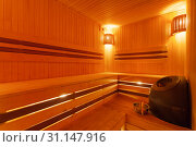 Modern sauna. Стоковое фото, фотограф Данила Михин / Фотобанк Лори