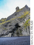 Купить «Reynisfjall mountain near Black Sand Beach, Vik Town in Iceland», фото № 31190520, снято 22 сентября 2017 г. (c) easy Fotostock / Фотобанк Лори