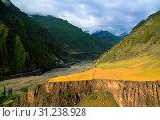 Купить «Panorama of Akhtychay river and valley, Midjakh Akhty, Dagestan Russia», фото № 31238928, снято 13 июня 2015 г. (c) easy Fotostock / Фотобанк Лори