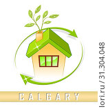Купить «Calgary Real Estate House Shows Property For Sale Or Rent In Alberta. Investment Agents Or Brokers Symbol 3d Illustration», фото № 31304048, снято 7 апреля 2014 г. (c) easy Fotostock / Фотобанк Лори