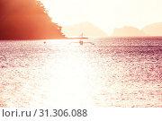 Купить «Amazing scenic view of sea bay and mountain islands, Palawan, Philippines», фото № 31306088, снято 15 ноября 2019 г. (c) easy Fotostock / Фотобанк Лори
