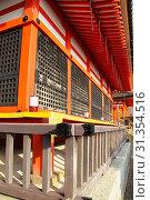 Купить «Exterior of Kiyomizu-dera Temple, Kyoto», фото № 31354516, снято 12 ноября 2010 г. (c) easy Fotostock / Фотобанк Лори