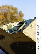 Купить «Damaged body of a military armored infantry. Outdoor military vehicles museum. Armor is damaged at the battlefield.», фото № 31368880, снято 10 ноября 2018 г. (c) easy Fotostock / Фотобанк Лори
