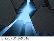 Купить «3d rendering, dark hexagonal background, sci-fi background, computer digital background», фото № 31369516, снято 18 сентября 2019 г. (c) easy Fotostock / Фотобанк Лори