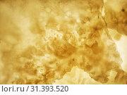 Купить «Onyx wall background. Texture of honey color onyx material», фото № 31393520, снято 15 июня 2018 г. (c) Serg Zastavkin / Фотобанк Лори