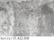 Rough gray concrete wall with faded stucco. Стоковое фото, фотограф EugeneSergeev / Фотобанк Лори