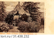 1905, California, Redlands, Summer House at Canon Crest Park', United States of America (2019 год). Редакционное фото, фотограф Liszt Collection / age Fotostock / Фотобанк Лори
