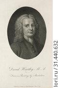 David Hartley, 1791. William Blake (British, 1757-1827). Engraving (2019 год). Редакционное фото, фотограф Liszt Collection / age Fotostock / Фотобанк Лори