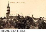Stadtkirche Oederan, Rectories in Saxony, 1907, Landkreis Mittelsachsen, Oederan, Kirche mit Pfarre, Germany (2019 год). Редакционное фото, фотограф Liszt Collection / age Fotostock / Фотобанк Лори