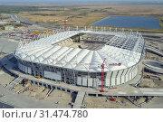 Купить «Construction of the stadium. New stadium, sports facility», фото № 31474780, снято 20 сентября 2019 г. (c) easy Fotostock / Фотобанк Лори
