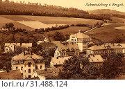 Buildings in Landkreis Sächsische Schweiz-Osterzgebirge, Schmiedeberg (Erzgebirge), 1910, Landkreis Sächsische Schweiz-Osterzgebirge, Schmiedeberg, Germany (2019 год). Редакционное фото, фотограф Copyright Liszt Collection / age Fotostock / Фотобанк Лори