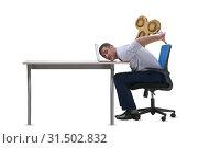 Купить «Employee losing energy from too much work», фото № 31502832, снято 17 июля 2019 г. (c) Elnur / Фотобанк Лори
