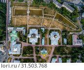 Купить «Москва, Рогожский старообрядческий посёлок, вид сверху», фото № 31503768, снято 24 июня 2019 г. (c) glokaya_kuzdra / Фотобанк Лори