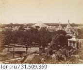Купить «The Incomparable Pagoda from Mandalay Hill, Felice Beato (English, born Italy, 1832 - 1909), Mandalay, Burma, about 1890, Albumen silver print», фото № 31509360, снято 7 сентября 2018 г. (c) age Fotostock / Фотобанк Лори
