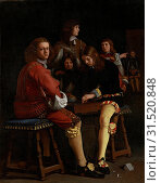 The Draughts Players, Michael Sweerts, 1652 (2014 год). Редакционное фото, фотограф Artokoloro / age Fotostock / Фотобанк Лори