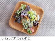 Купить «Vegetable salad with a sour cream sauce», фото № 31529412, снято 30 июня 2019 г. (c) Володина Ольга / Фотобанк Лори