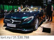Купить «Mercedes-Benz C217 S400», фото № 31530788, снято 1 сентября 2016 г. (c) Art Konovalov / Фотобанк Лори