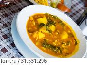 Купить «Garbanzo soup», фото № 31531296, снято 21 июля 2019 г. (c) Яков Филимонов / Фотобанк Лори