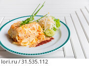 Купить «Pad Thai - Stir fried rice noodles - thai cuisine», фото № 31535112, снято 8 апреля 2020 г. (c) easy Fotostock / Фотобанк Лори