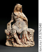 Купить «Virgin of the Annunciation, ca. 1300–1310, Made in Paris, France, French, Limestone, traces of paint, Overall: 16 11/16 x 11 5/8 x 7 3/8 in. (42.4 x...», фото № 31574040, снято 27 апреля 2017 г. (c) age Fotostock / Фотобанк Лори