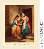 Niccolò Schiavonetti after Francis Wheatley, Italian (1771-1813), New Mack'rel, 1795, color stipple engraving (2014 год). Редакционное фото, фотограф Artokoloro / age Fotostock / Фотобанк Лори