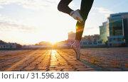 Купить «Young attractive ballerina in pointe whirls on one leg while dancing ballet», видеоролик № 31596208, снято 27 мая 2020 г. (c) Константин Шишкин / Фотобанк Лори