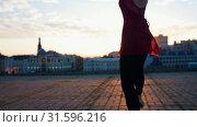 Купить «Young attractive ballerina in pointe whirls on one leg and the camera moves to up», видеоролик № 31596216, снято 27 мая 2020 г. (c) Константин Шишкин / Фотобанк Лори