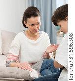 Woman scolding son. Стоковое фото, фотограф Яков Филимонов / Фотобанк Лори