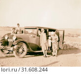 Mrs. Pyle & Mrs. Matson inside new Dodge in countryside. 1920, Middle East (2018 год). Редакционное фото, фотограф © Liszt Collection / age Fotostock / Фотобанк Лори