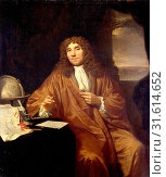Купить «Portrait of Anthonie van Leeuwenhoek, Natural Philosopher and Zoologist in Delft, The Netherlands, Jan Verkolje, I, 1670 - 1693», фото № 31614652, снято 18 ноября 2014 г. (c) age Fotostock / Фотобанк Лори