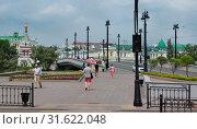Город Омск, Юбилейный мост через реку Омь после реконструкции (2019 год). Редакционное фото, фотограф Виктор Топорков / Фотобанк Лори