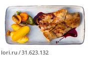 Купить «Pork with wine sauce», фото № 31623132, снято 23 июля 2019 г. (c) Яков Филимонов / Фотобанк Лори