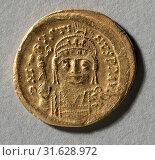 Купить «Solidus of Justin II, 565-578. Byzantine, 6th century. Gold, diameter: 2 cm (13/16 in.)», фото № 31628972, снято 14 февраля 2019 г. (c) age Fotostock / Фотобанк Лори