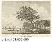 River view from the shore of the IJssel The Netherlands, Carel Frederik Bendorp (I), 1785 (2014 год). Редакционное фото, фотограф Artokoloro / age Fotostock / Фотобанк Лори