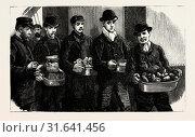 Купить «STOKERS FOR THE BRITISH NAVY, NEWLY JOINED MEN DRAWING THEIR RATIONS, engraving 1890, UK, U.K., Britain, British, Europe, United Kingdom, Great Britain, European», фото № 31641456, снято 13 апреля 2012 г. (c) age Fotostock / Фотобанк Лори