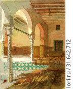 Interior of Mosque at Casbah, 1885, Algiers (2013 год). Редакционное фото, фотограф Artokoloro / age Fotostock / Фотобанк Лори