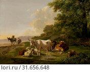 Купить «Landscape with Cattle, Pieter Gerardus van Os, 1806», фото № 31656648, снято 16 ноября 2014 г. (c) age Fotostock / Фотобанк Лори