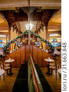 Inside the Meletti Caffè, Ascoli Piceno, Marche, Italy, Europe. Стоковое фото, фотограф ClickAlps / age Fotostock / Фотобанк Лори