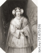 Купить «Lady Percy. Principal female character from Shakespeare's play King Henry IV. From Shakespeare Gallery, published c. 1840.», фото № 31673016, снято 19 октября 2019 г. (c) age Fotostock / Фотобанк Лори