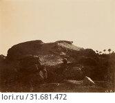 Купить «Desert landscape in shadow, about 1860 - 1880, Tinted Albumen silver print», фото № 31681472, снято 7 сентября 2018 г. (c) age Fotostock / Фотобанк Лори