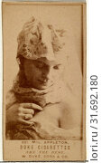 Drawings and Prints, Photograph, Card Number 521, Mlle. Appleton, from the Actors and Actresses series issued by Duke Sons & Co. to promote Duke Cigarettes... (2017 год). Редакционное фото, фотограф ed / age Fotostock / Фотобанк Лори