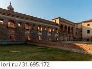 External view of the Cortile della Cavallerizza courtyard, Ducal Palace, Mantua, Lombardy, Italy, Europe. Стоковое фото, фотограф Mauro Flamini / age Fotostock / Фотобанк Лори