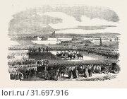 Купить «PRESENTATION OF COLOURS TO THE FIRST SOMERSET MILITIA, BY THE COUNTESS POULETT, 1854», фото № 31697916, снято 3 января 2013 г. (c) age Fotostock / Фотобанк Лори