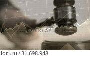 Купить «Conceptual digital animation showing business graph 4k», видеоролик № 31698948, снято 26 октября 2018 г. (c) Wavebreak Media / Фотобанк Лори