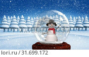 Купить «Cute Christmas animation of snowman in snow globe 4k», видеоролик № 31699172, снято 26 октября 2018 г. (c) Wavebreak Media / Фотобанк Лори