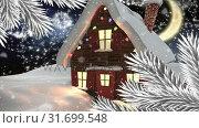 Купить «Video composition with snow over winter scenery at night», видеоролик № 31699548, снято 2 ноября 2018 г. (c) Wavebreak Media / Фотобанк Лори