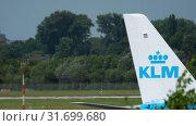 Купить «Airbus A350 departure», видеоролик № 31699680, снято 22 июля 2017 г. (c) Игорь Жоров / Фотобанк Лори