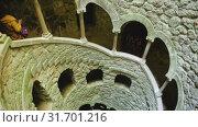 Купить «Famous landmark Quinta da Regaleira estate, Sintra. Portugal», видеоролик № 31701216, снято 21 апреля 2019 г. (c) Яков Филимонов / Фотобанк Лори