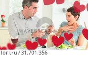 Купить «Happy couple getting engaged », видеоролик № 31701356, снято 6 ноября 2018 г. (c) Wavebreak Media / Фотобанк Лори
